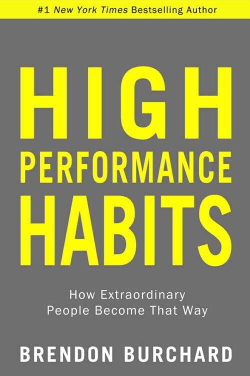 High Performance Habits by Brendon Burchard book cover