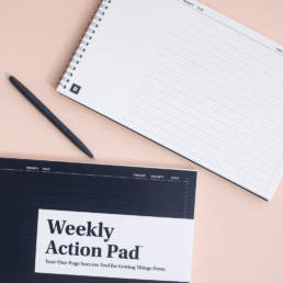 BestSelf Weekly Action Pad